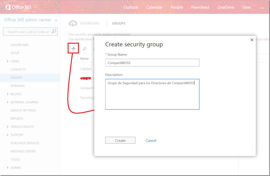 SharePoint Online: How to use Office 365 Security Groups (I