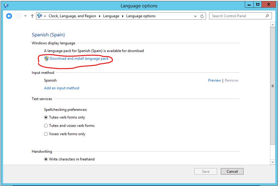 Windows Server 2012 R2 - Como añadir un lenguaje adicional al